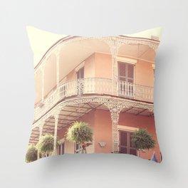 Vintage French Quarter Throw Pillow