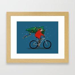 Bike Life: Christmas Framed Art Print