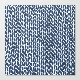 Hand Knit Zoom Navy Canvas Print