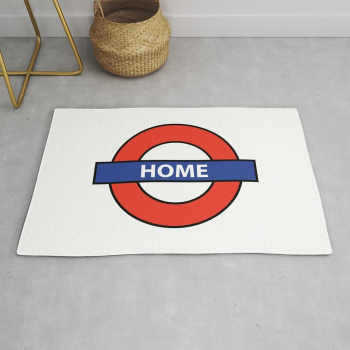 Underground Home Sign Rug By Homestead