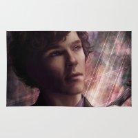 sherlock Area & Throw Rugs featuring Sherlock by Jasric Art