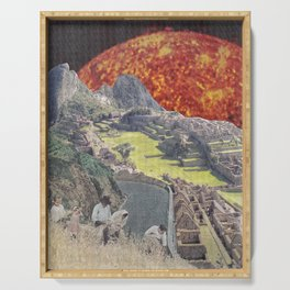 red Giant above Machu Picchu Serving Tray