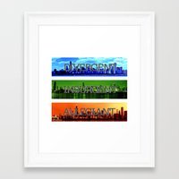 divergent Framed Art Prints featuring Divergent by All Things M