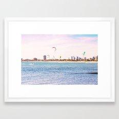 Windsurfing at St Kilda Framed Art Print