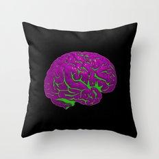Brain of a Villain - Joker Throw Pillow