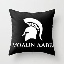 Sparta-molon-labe Throw Pillow