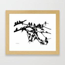 Noisy Silouettes Framed Art Print