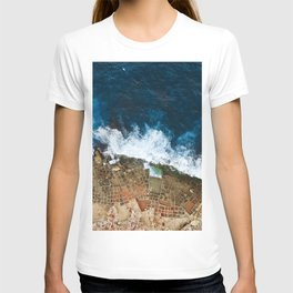 An aerial shot of the Salt Pans in Marsaskala Malta T-shirt
