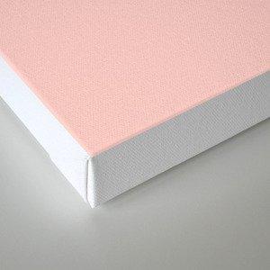 Bathroom Decor // get naked - white on light pink Canvas Print