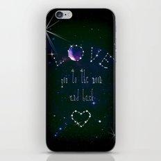 LOVE YOU GALAXY  iPhone & iPod Skin