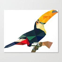 Geometric toco toucan Canvas Print