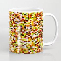 Noise pattern - yellow/red Mug