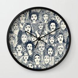 WOMEN OF THE WORLD INDIGO Wall Clock
