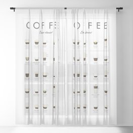 Coffee Chart - Espresso Classics Sheer Curtain