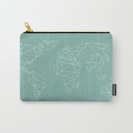geometrical world map mint Carry-All Pouch
