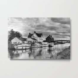 Crown and Anchor Metal Print