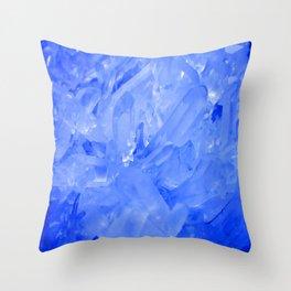 Blue Crystal City Throw Pillow