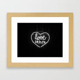 Love 24 Hours (Black and White) Framed Art Print