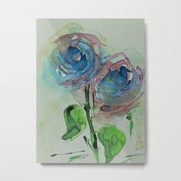 Blue Wild Flowers Metal Print