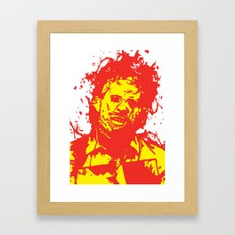 August 18, 1973: Bloodstain Leatherface (color combination G) Framed Art Print