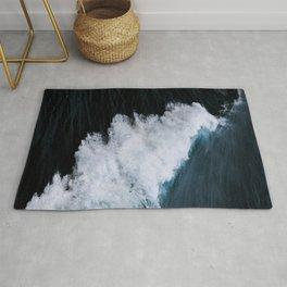 Powerful breaking wave in the Atlantic Ocean - Landscape Photography Rug