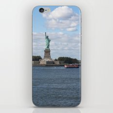 Lady Liberty at the harbor iPhone & iPod Skin