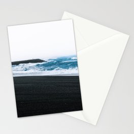 Melancholic Beach Stroll in Iceland Stationery Cards