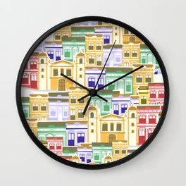 Houses of Brazilian Carnival Wall Clock