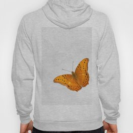 Butterfly and ghost on textured white Hoody