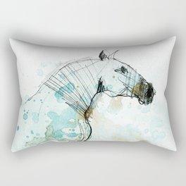 Horse (Lusitano Blue) Rectangular Pillow