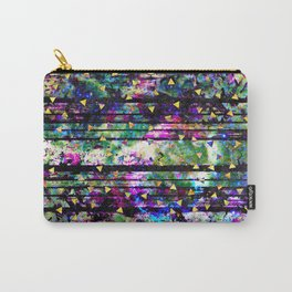 Gold Triangles on Abalone Marble Carry-All Pouch