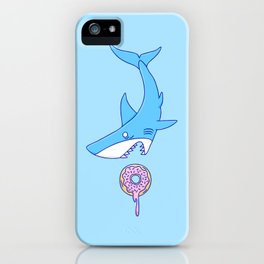 Shark Versus Donut iPhone Case