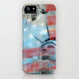 Lady Liberty Stars and Stripes Patriotic Artwork iPhone Case