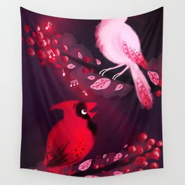 Cardinal Song Wall Tapestry