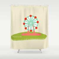 carnival Shower Curtains featuring Carnival by Lburleighdesigns