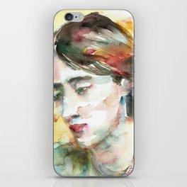 VIRGINIA WOOLF - watercolor portrait.3 iPhone Skin