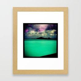 Tropical Galaxy Framed Art Print