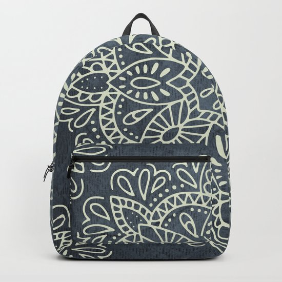 Mandala Vintage Ivory Blue Backpack