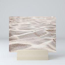 Sand Photography, Beach Photograph, Coastal Photo, Cream Beige Brown Neutral Mini Art Print