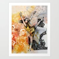ballet Art Prints featuring Ballet by Andreas Derebucha