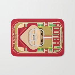American Football Red and Gold - Enzone Puntfumbler - Bob version Bath Mat