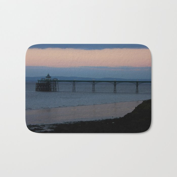 Clevedon Pier Sunset Bath Mat