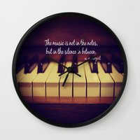 mozart Wall Clocks featuring Mozart Music by KimberosePhotography