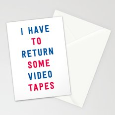 American Psycho - I have to return some video tapes Stationery Cards