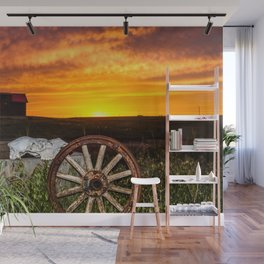 Wyoming Sunset Wall Mural