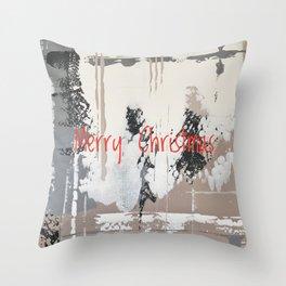 Snowfall - Merry Christmas Throw Pillow