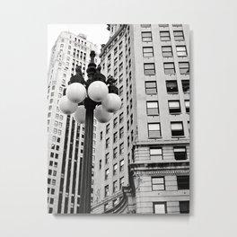 A Chicago Lamp Post Metal Print