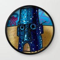 spongebob Wall Clocks featuring Spongebob by LilBroxc