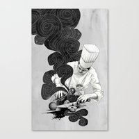 chef Canvas Prints featuring Galactic Chef by Kyle Cobban