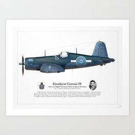 Corsair IV - Osborne Hawkins Art Print